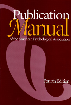 Image for PUBLICATION MANUAL 4TH EDITION