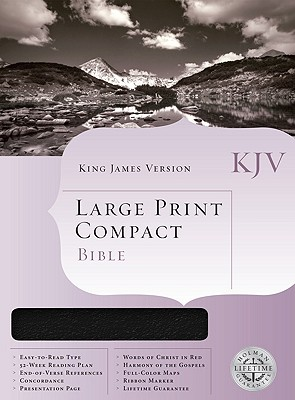 Bible King James Version: Black Bonded Leather Compact