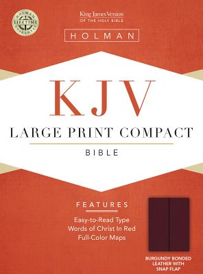 Image for KJV Large Print Compact Bible, Burgundy Bonded Leather with Magnetic Flap