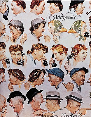 Image for Norman Rockwell Address Book (Gift Line)
