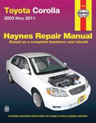 Image for Toyota Corolla 2003-2011 Repair Manual (Haynes Repair Manual)