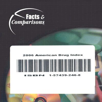 American Drug Index 2006 on CD-ROM: Published by Facts & Comparisons (American Drug Index Series, (1956-)