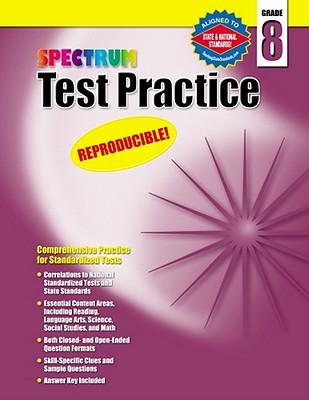 Image for Spectrum Test Practice, Grade 8