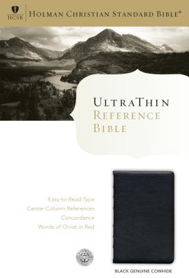 Image for HCSB Ultrathin Reference Bible, Black Genuine Cowhide