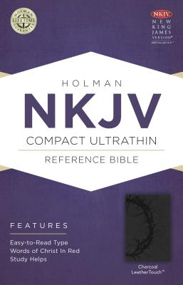 Image for NKJV Compact Ultrathin Bible, Charcoal LeatherTouch