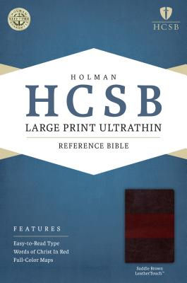 Image for HCSB Large Print Ultrathin Reference Bible, Saddle Brown LeatherTouch