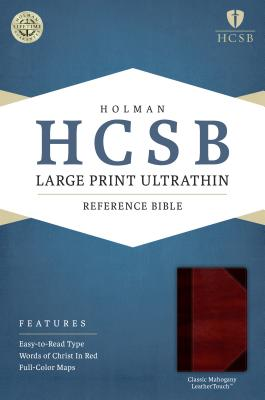 Image for HCSB Large Print Ultrathin Reference Bible, Classic Mahogany LeatherTouch
