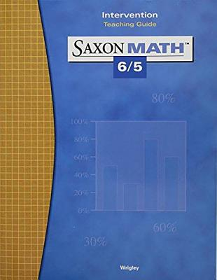 Image for Saxon Math 6/5 3e Intervention Teaching Guide