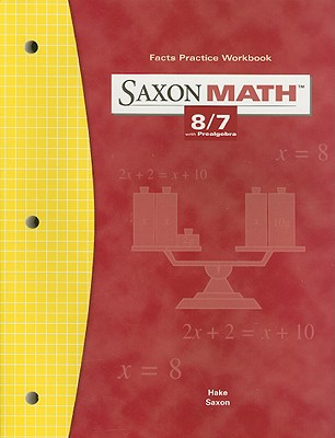 Image for Saxon Math: 8/7, Fact Practice Workbook, Grade 7