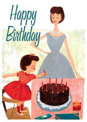 Fixing the Cake Birthday Card
