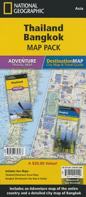 Image for Thailand, Bangkok [Map Pack Bundle] (National Geographic Adventure Map)