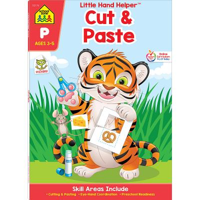 "Image for School Zone - Cut & Paste Skills Workbook - Ages 3 to 5, Preschool to Kindergarten, Scissor Cutting, Gluing, Stickers, Story Order, Counting, and More (School Zone Little Hand Helperâ""¢ Book Series)"