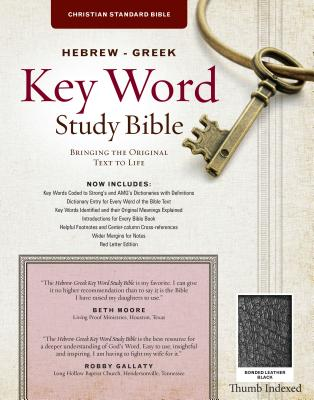Image for The Hebrew-Greek Key Word Study Bible: CSB Edition, Black Bonded Indexed (Key Word Study Bibles)