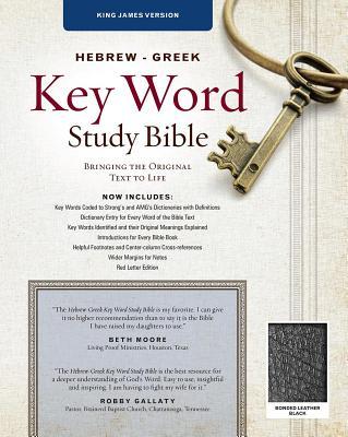 """Image for """"''KJV Hebrew-Greek Key Word Study Bible, bonded leather, black-indexed''"""""""