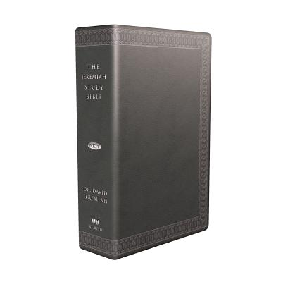 Image for The Jeremiah Study Bible, NKJV: (Charcoal w/ burnished edges) LeatherLuxe® w/thumb index: What It Says. What It Means. What It Means for You.