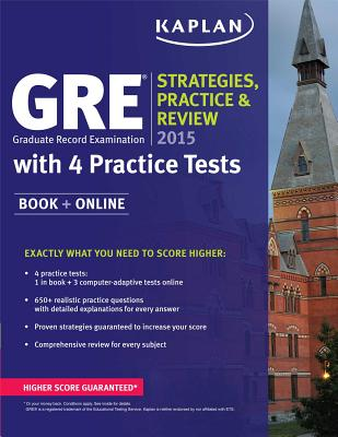 Image for GRE® 2015 Strategies, Practice, and Review with 4 Practice Tests: Book + Online
