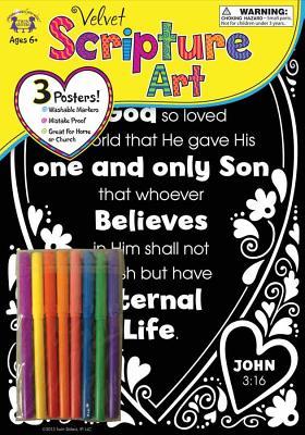 Image for Velvet Scripture Art John 3:16 (Color His Words Velvet Art)