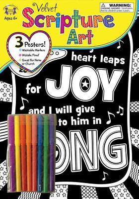 Image for Velvet Scripture Art Psalm 28:7 (Color His Words Velvet Art)
