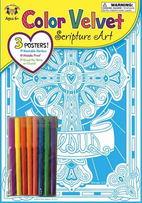 Image for Color Velvet Scripture Art - Let Us Fix Our Eyes On Jesus-Hebrews 12:2