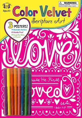 Image for Color Velvet Scripture Art - Love John 4:19
