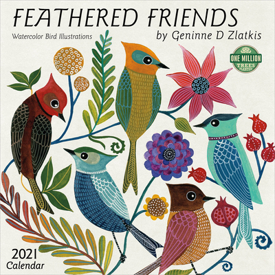 Image for Feathered Friends 2021 Wall Calendar: Watercolor Bird Illustrations