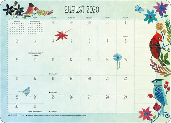 Image for Geninne Zlatkis 2020 - 2021 Desk Pad Calendar (17-Month Aug 2020 - Dec 2021, 18.75' x 13.5')