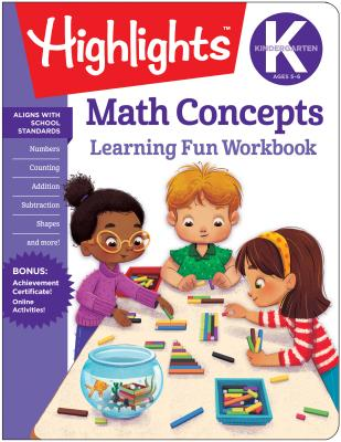 Image for KINDERGARTEN MATH CONCEPTS LEARNING FUN WORKBOOK
