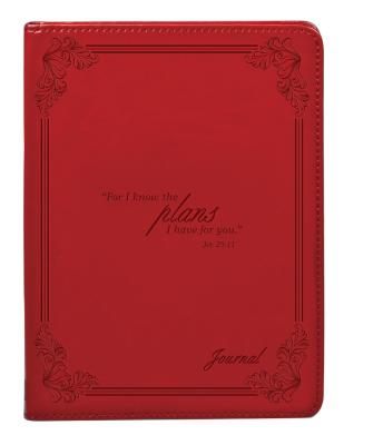 Image for Red I Know the Plans Flexcover Journal