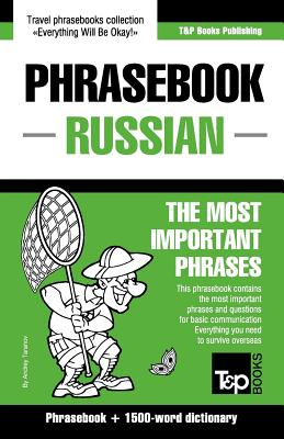 Image for English-Russian phrasebook and 1500-word dictionary