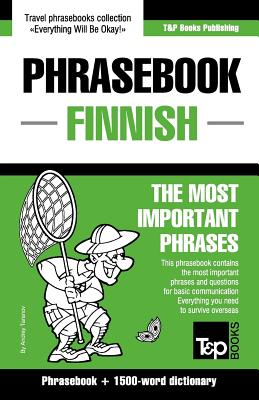 Image for English-Finnish phrasebook and 1500-word dictionary