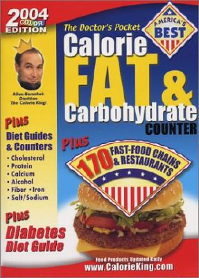 Image for The Doctor's Pocket Calorie, Fat & Carbohydrate Counter