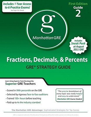 Fractions, Decimals, & Percents GRE Preparation Guide, 1st Edition (8 Guide Instructional Series), Manhattan GRE, -