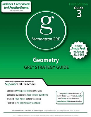 Geometry GRE Preparation Guide, 1st Edition (Manhattan GRE Preparation Guide: Geometry), Manhattan GRE, -