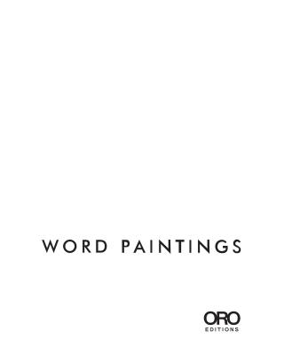 Image for Word Paintings