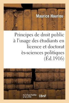 Image for Principes de droit public à l'usage des étudiants en licence et en doctorat (2e éd.) (Sciences Sociales) (French Edition)