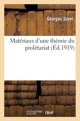 Image for Matériaux d'une théorie du prolétariat (Sciences Sociales) (French Edition)