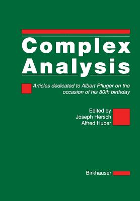 Image for Complex Analysis: Articles Dedicated to Albert Pfluger on the Occasion of his 80th Birthday