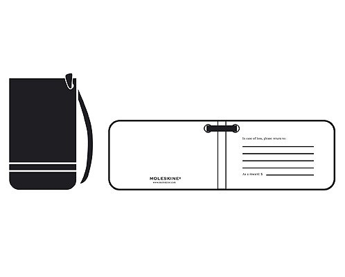 Moleskine Luggage Tag, Black (3.75 x 2.25), Moleskine